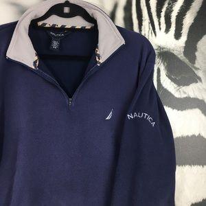 MENS Nautica Very Soft Fleece 1/4 Zip Pullover MED
